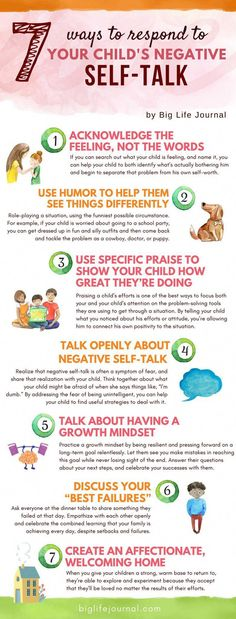 7 Ways to Address Negative Self Talk with Kids