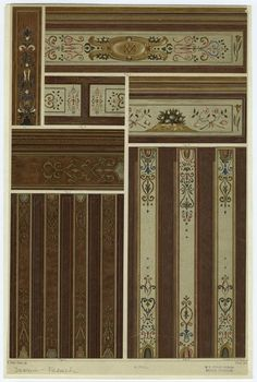 One of hundreds of thousands of free digital items from The New York Public Library. Green Design, Ceiling Medallions, Decor, Energy Efficient Homes, Painted Beams, Ceiling Design, Painted Ceiling, Wall Paneling, Decorative Painting