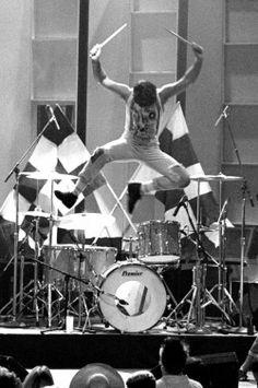 Clem Burke (drummer for Blondie), Hollywood 1984
