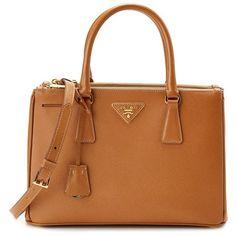 Prada Prada Small Saffiano Lux Leather Tote (404147701) (3,635 BAM) ❤ liked on Polyvore featuring bags, handbags, tote bags, bolsas, purses, multiple colors, handbags totes, leather handbag tote, brown leather tote and brown leather purse