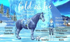 Star Stable Horses, Blue Birthday, Christmas Hat, Stables, Friends In Love, Really Cool Stuff, Outfit Ideas, Game, Clothing