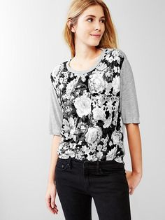 Gap | Floral fluid relaxed tee