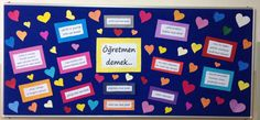 ffceb2bac3851b4624bf8899d519f0d0.jpg (3046×1417) Library Week, Crafts For Kids, Diy Crafts, Teachers' Day, Bulletin Boards, Valentine Decorations, Projects To Try, Preschool, Classroom