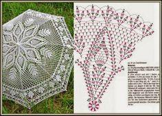 crochet parasol pattern free -.