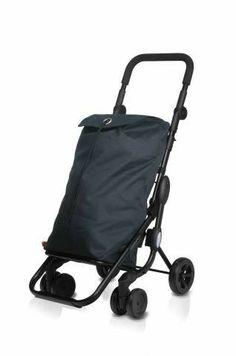 Carro Compra Play Go One, ,48x50x100, 48l. Capacidad 3.8kg. Un carro ligero, plegable y fácil de usar, de manillar regulable en altura, empuñadura de goma para mejorar la maniobrabilidad. Facilita el subir escaleras, ruedas dobles. Color Gris.