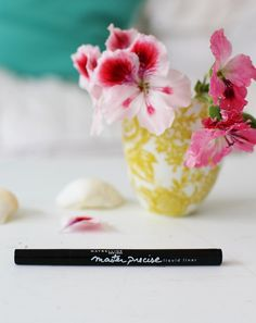 My fave liquid eyeliner - Maybelline Master Precise - as photographed stunningly by A Beach Cottage