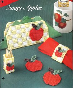 Plastic Canvas Pattern SUNNY APPLES by needlecraftsupershop, $4.50