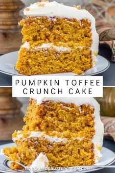 Fall Desserts, Just Desserts, Delicious Desserts, Dessert Recipes, Yummy Treats, Sweet Treats, Pumpkin Dessert, Pumpkin Cakes, Crunch Cake