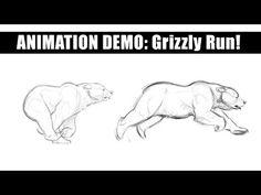 Tutoriales de Animación | Osos de Aaron Blaise | Notodoanimacion.es Drawing Now, Bear Drawing, Animal Sketches, Animal Drawings, Dire Bear, Cartoon Drawings, Cartoon Art, Running Drawing, Bear Sketch