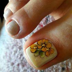 Pedicure Designs, Toe Nail Designs, Nails & Co, Toe Nails, Toe Polish, Toe Nail Art, Nails Inspiration, Nail Jewels, Nail Design