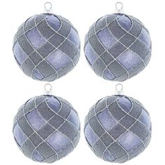 Gunmetal Polyfoam Ornaments