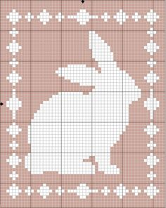 Filet Bunny Blanket Crochet Pattern - The Lavender Chair This Filet Bunny Blanket is the perfect baby blanket for all those spring babies! Get the FREE crochet pattern right here at The Lavender Chair! Crochet Patterns Filet, Crochet Tunic Pattern, C2c Crochet, Easter Crochet, Free Crochet, Bunny Blanket, Baby Blanket Crochet, Pixel Crochet Blanket, Fillet Crochet
