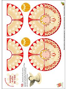 FREE printable paper angel decoration / HugoLescargot.com