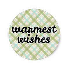 Holiday Greeting Warmest Wishes Plaid - #christmas #holiday #cards #stickers #party #printable #fox #scarf #plaid #warmwishes #zazzle