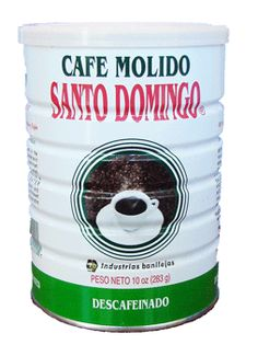 I love my Decaf Dominican coffee!!!  The regular Santo Domingo coffee is AWESOME!! Its the only coffee that you can drink black and iced and its not bitter!!  I love it!!  SANTO DOMINGO Cafe Descafeinado 10 oz. Lata