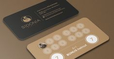 Loyalty business card design for beauty salon customers