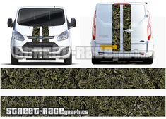 Transit Custom CAMOUFLAGE real woodland tree effect infill graphics Car Stickers, Car Decals, Transit Custom, Racing Stripes, Ford Transit, Camouflage, Woodland, Graphics, Military Camouflage