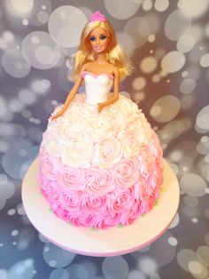 Awesome Picture of Barbie Birthday Cakes . Barbie Birthday Cakes Pink Ombr Barbie Cake Amy Hart Sweethart Cakes Amy Hart Best Picture For Birthday Cake fondant For Your Taste Yo Barbie Theme Party, Barbie Birthday Cake, Happy Birthday Cakes, Birthday Cake Girls, Princess Birthday Cakes, Princess Cakes, Birthday Ideas, 8th Birthday Cake, Pink Birthday