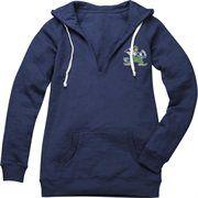 Notre Dame Fighting Irish Women's Iconic Deep V-Neck Burnout Hooded Sweatshirt
