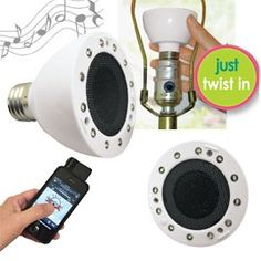 Brite Tunes, Light Bulb Speakers, LED Bulb with Speakers | Solutions