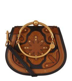 CHLOÉ Small Nile Patchwork Bracelet Bag.