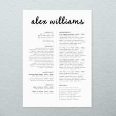 CV Design Cover Letter Printable Resume by BrandConceptCo on Etsy