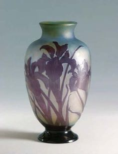 "Émile Gallé (1846-1904). ""Balustre"" vase. C. 1900. Glass. Pinacoteca Civica - Pieve di Cento - Italy"