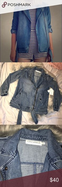 Gypsy Warrior Denim Jacket Gypsy Warrior Denim Jacket • BRAND NEW WITH TAGS • NEVER WORN • would be very cute with striped dress or a white shirt with leggings • perfect condition • size small • from Pacsun • nothing wrong with it • selling due to cleaning out my closet • make an offer! PacSun Jackets & Coats Jean Jackets
