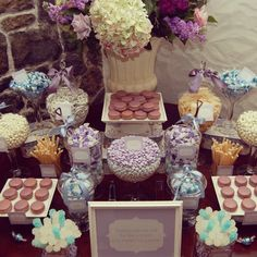 great for a understated classy purple table lady sweet tooth douthard bridal shower candy buffet