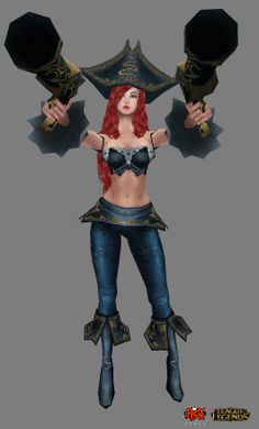 L.O.L miss fortune - hand painting, max viewport shot