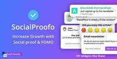 SocialProofo 14 Social Proof & FOMO Notifications for Growth (SaaS Platform) Free Nulled - Social Proof - Ideas of Buying A Home Tips - SocialProofo 14 Social Proof & FOMO Notifications for Growth (SaaS Platform) Free Nulled www. Admin Password, Software, Social Proof, Display Ads, Working On It, Competitor Analysis, Wordpress Plugins, Wordpress Theme, Marketing Tools