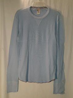 NEW TODD SNYDER X CHAMPION LIGHT BLUE LONG SLEEVE CREW THERMAL SHIRT MENS MEDIUM #ToddSnyderXChampion #THERMAL