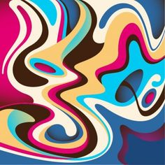 Abstract Colorful Flow Background Vector Graphic