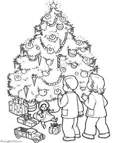 Kids Free Printable Christmas Tree Coloring Pages!