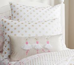 Ballerina Decorative Pillow #pbkids (soooooo adorable... I might have to do a DIY version of this)