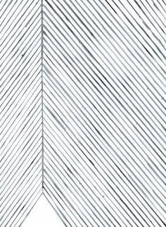 Leaf Lines (Blue) by Silke Bonde | Poster from