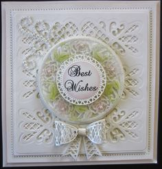 PartiCraft (Participate In Craft): Best Wishes Italian Collection Tuscany Die, Heart Lattice Striplet , Italian Collection Decorative frames, 3D Lattice Bow