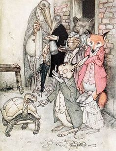 Jean de la Fontaine, illustration by Arthur Rackham