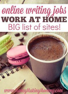 Huge list of online freelance writing opportunities