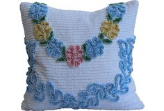 Chenille Pillow, what to make with the one I have.