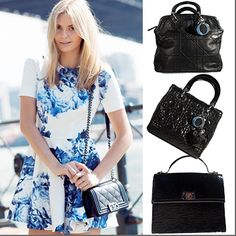 Don't forget to finish a colorful floral dress with a chic black bag! http://bobags.com.br/compra-de-bolsas/bolsa-dior-granville.html  http://bobags.com.br/compra-de-bolsas/louis-vuitton-sevigne-epi.html  http://bobags.com.br/compra-de-bolsas/bolsa-mini-lady-dior.html #diorbobags #flowerdress