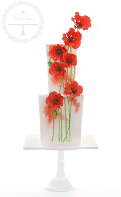 Sweet Love Cake Couture - red poppy layer cake