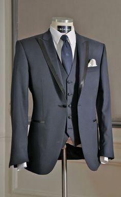 Costume de marié - Smoking bleu nuit