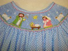 Christmas Nativity smocked dress