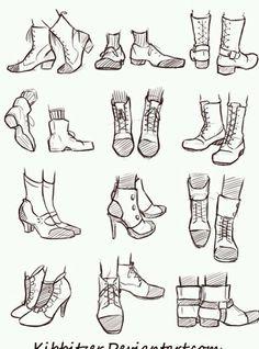 Manga Drawing Tips Shoes Reference Sheet Pés Drawing Reference Poses, Drawing Poses, Design Reference, Drawing Tips, Drawing Ideas, Drawing Hair, Drawing Drawing, Feet Drawing, Face Reference