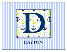 Personalized Children's Names  10X8 Classic Boys by WITNESSart, $15.00