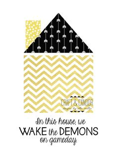 Wake Forest University Home Print by CraftandCandor on Etsy, $8.00