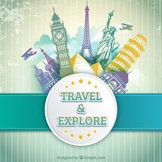 Travel and explore vector Travel Themes, Travel Posters, Photos Hd, Travel Illustration, Travel Logo, World Cities, Travel Design, Banners, Travel Deals