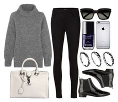 """""""Style #9013"""" by vany-alvarado ❤ liked on Polyvore featuring J Brand, Prada, Yves Saint Laurent, Chanel and DesignSix"""