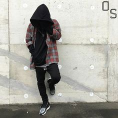 #OutfitSociety Presents @yu.gold.f comment below if you a fan of this Killa outfit: FOG Tank and Flannel Enfin Leve Hoodie H&M Pants and Adidas Ultra Boost